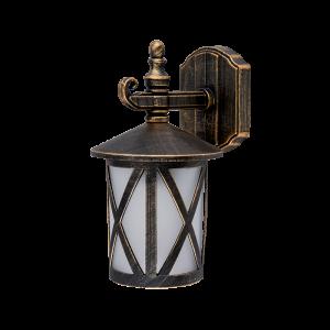 Elmark ERIK antik sárgaréz oldalfali lámpa, E27