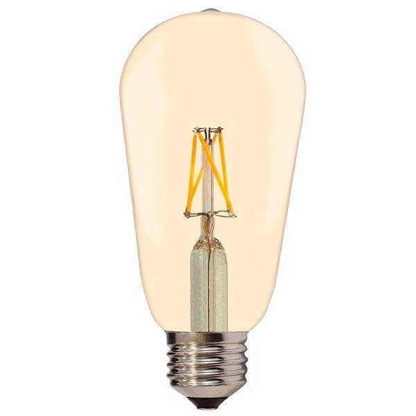 Kanlux LED lámpa , égő , Edison izzószálas hatás , körte , E27 foglalat , 4 Watt , borostyán sárga