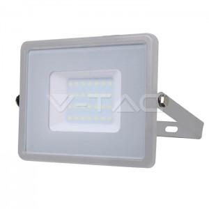 LED reflektor, SMD SLIM SERIES, 30W, hideg fehér,szürke
