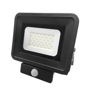 Optonica LED SMD CL2 reflektor-fényvető 30W 6000K hideg fehér 2550lm mozgásérzékelővel fekete FL5859