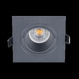 Elmark  LED mélysugárzó lámpatest négyzet grafit színű 7W 2700K 525lm IP40