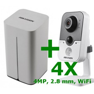 Hikvision kamera szett, DS-7108NI-E1/V/W + 4 x 4MP kamera