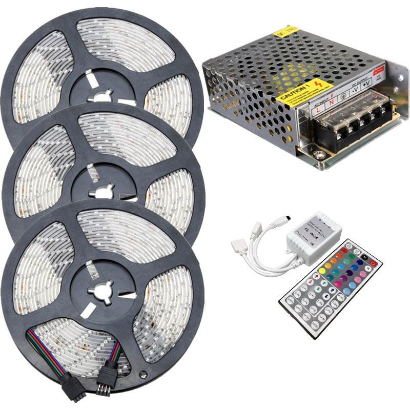 Akciós LED szalag szett 15 méter RGB