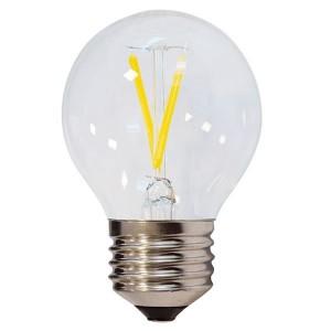 LED lámpa, égő, E27 foglalat, G45 körte forma,filament 4 watt, 300°,  meleg fehér