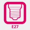 E27 foglalat (normál)