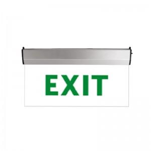LED vészkijárat jelző átlátszó üveg EXIT felirattal 3W 2óra IP44