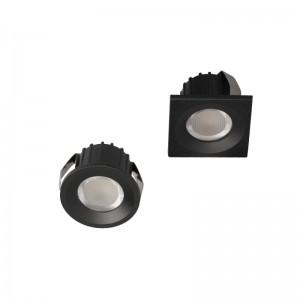 ANGEL EYE Mini mélysugárzó LED lámpa 230V 3W 4000K 270lm 30fok kerek fekete