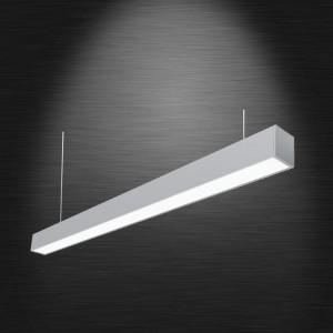 Sonata LED lineáris hasáb lámpatest függesztékkel 40W 4000K 4300lm 120cm Ezüst