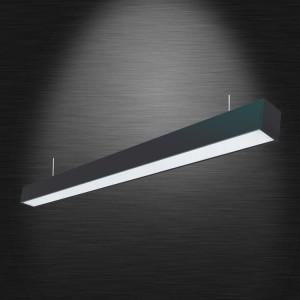 Sonata LED lineáris hasáb lámpatest függesztékkel 40W 4000K 4300lm 120cm Fekete