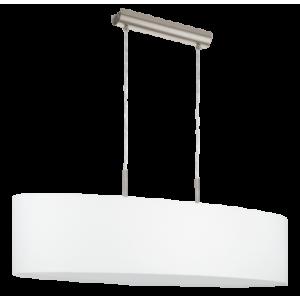 textil, függesztett mennyezeti lámpa E27 2x60W 100cm fehér Pasteri