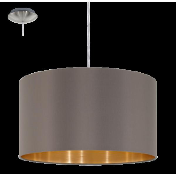 textil, függesztett mennyezeti lámpa E27 60W 38cm cappuc  Maserlo