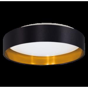 textil mennyezeti lámpa LED 16W 40,5cm fekete/arany Maserlo