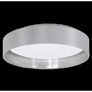 textil mennyezeti lámpa LED 16W 40,5cm szürke/ezüst Maserlo