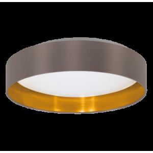 textil mennyezeti lámpa LED 16W 40,5cm capp/arany Maserlo