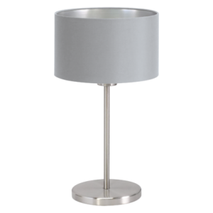 textil asztali lámpa E27 60W szürke Maserlo