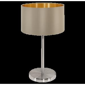 Textil asztali lámpa E27 60W szürkésbarna Maserlo