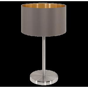 textil asztali lámpa E27 60W cappucc  Maserlo