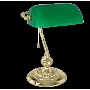 EGLO BANKER íróasztali lámpa - zöld - sárgaréz