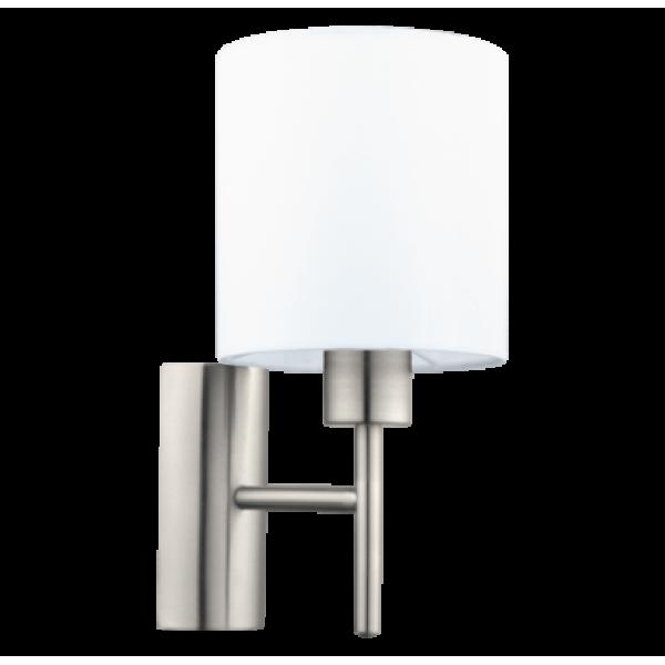 fali lámpa E27 60W fehér/matt-nikkel Pasteri
