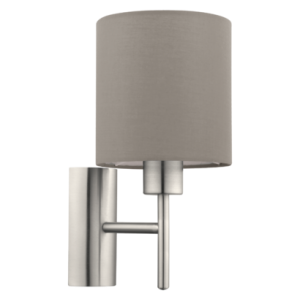 Fali lámpa E27 60W szürkésbarna Pasteri