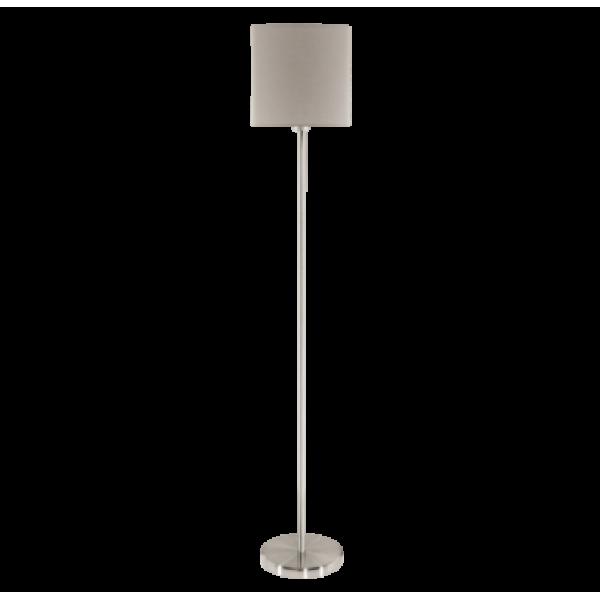 Textil állólámpa E27 60W szürkésbarna Pasteri