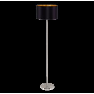 textil állólámpa E27 60W fekete/arany Maserlo