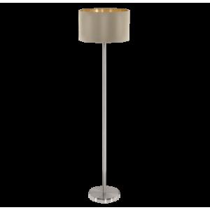 Textil állólámpa E27 60W szürkésbarna Maserlo