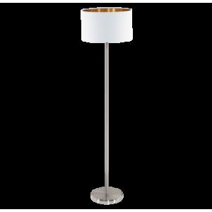 Textil állólámpa E27 60W fehér/réz Pasteri