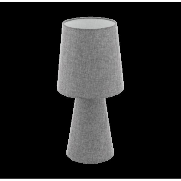 Textil asztali lámpa  szürke Carpara
