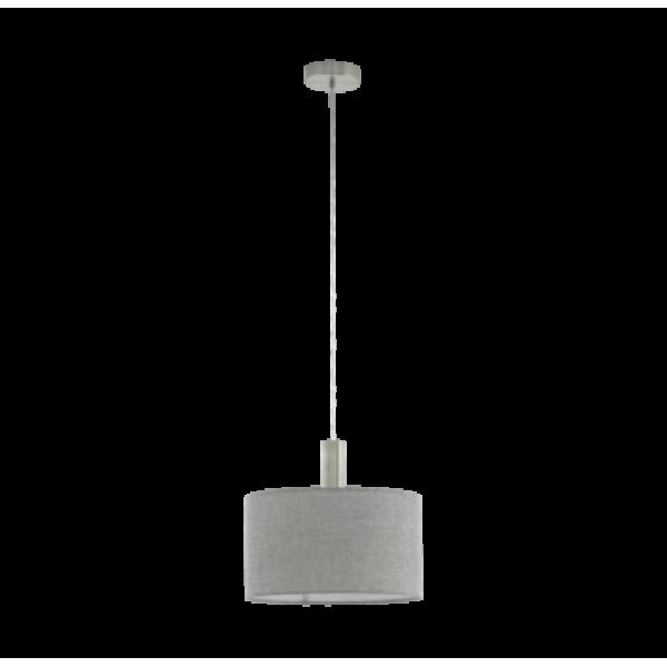 Függesztett mennyezeti lámpa E27 1x60W 38cm nikkel szürke Concessa 2