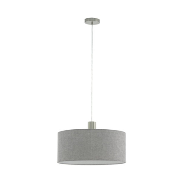 Függesztett mennyezeti lámpa E27 1x60W 53cm nikkel szürke Concessa2