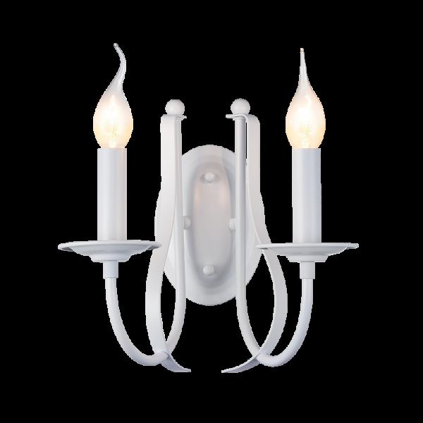 Amanda fehér fali lámpa, 2xE14, IP20