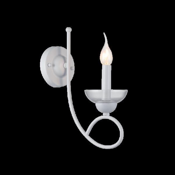 Ashley fehér fali lámpa, 1xE14, IP20