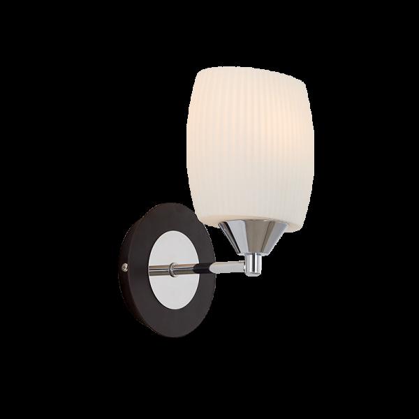 Cecil króm és wenge fali lámpa, 1xE27, IP20