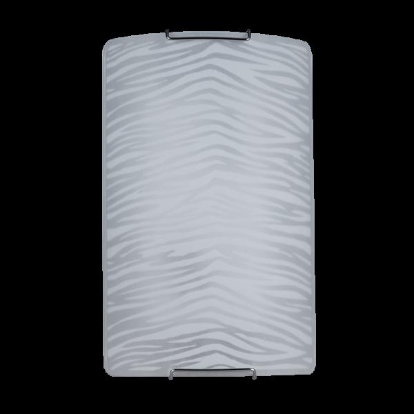 Eros fehér csíkos fali lámpa, téglalap, 2xE27, IP20