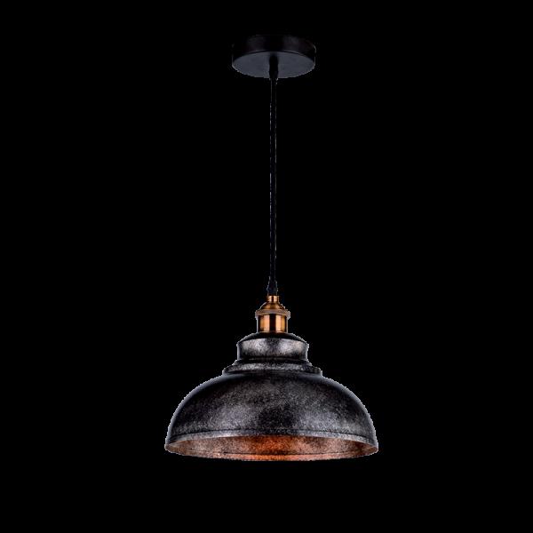 Apis fekete-ezüst színű vintage csillár, 1xE27, IP20