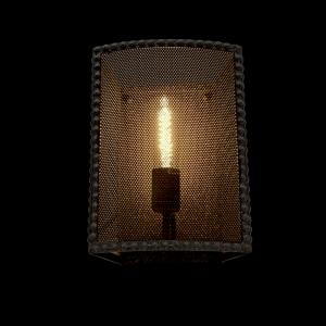 Carter fekete vintage fali lámpa, 1xE27, IP20