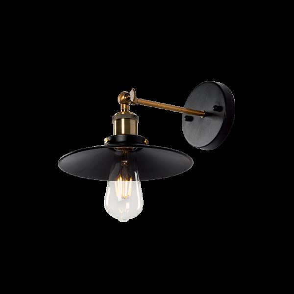 Damon fekete vintage fali lámpa, 1xE27, IP20