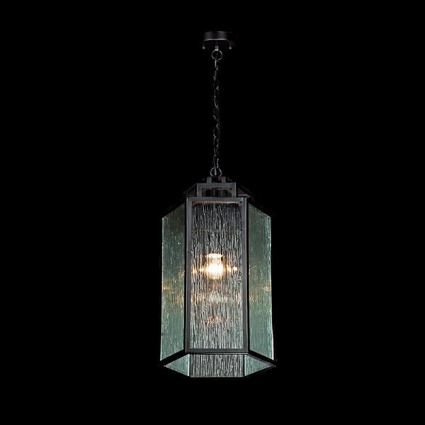 Jacob fekete fém és üveg vintage csillár láncon, 1xE27, IP20