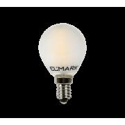 LED filament gömb 2W-os melegfehér fényforrás, G45, E14 KIFUTÓ