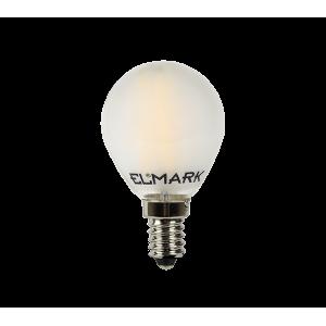 LED filament gömb 2W-os melegfehér fényforrás, G45, E14