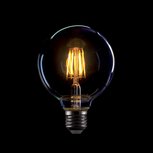 LED filamnet vintage fényforrás, melegfehér, 8W, G95, E27