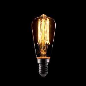 Vintage izzó, melegfehér fény, 40W, E14, ST45