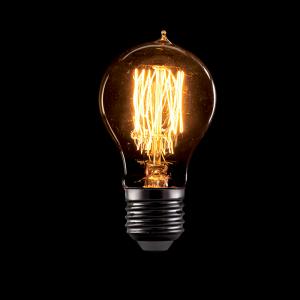 Vintage izzó, melegfehér fény, 60W, E27, A60
