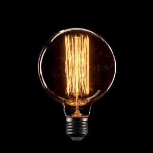Vintage izzó, melegfehér fény, 60W, E27, G95