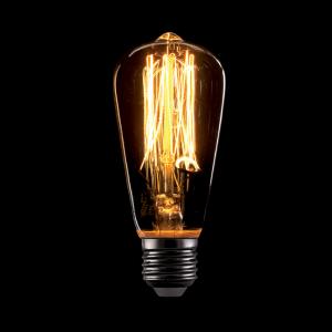 Vintage izzó, melegfehér fény, 60W, E27, ST48