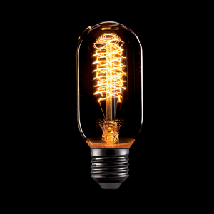 Vintage izzó, melegfehér fény, 60W, E27, T45
