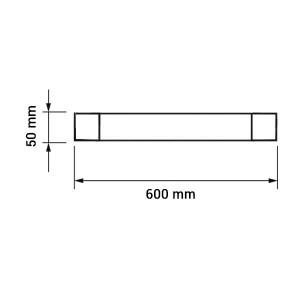 LED por és vízvédett bútorvilágítás, hideg fehér, 60cm, 20W, IP65