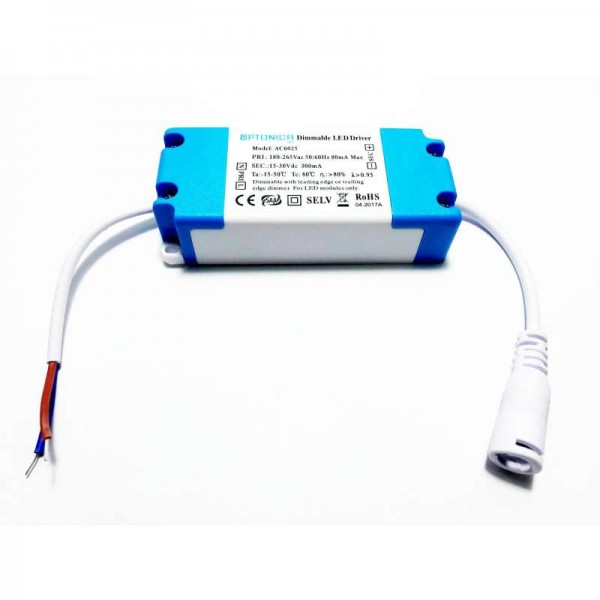 Dimmelhető LED-panel driver 5-9x1W, 220V, 300mA
