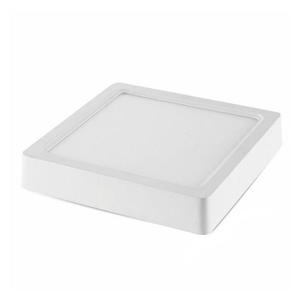 Négyszögletes LED panel Epistar Chip, falon kívüli, 18W, 1440lm, 2800K, meleg fehér, IP20 ,5 év garancia- 2531